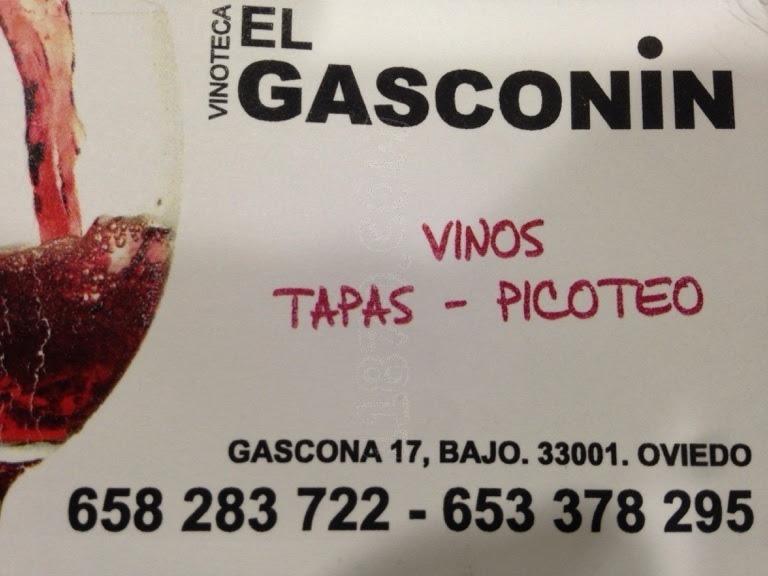 Cita para la tertulia de los jueves en : Vinoteca El Gasconín, Calle Gascona 17, 33001 Oviedo, Asturias