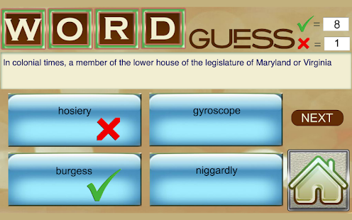 Word Games - Test and improve your Vocabulary Screenshot