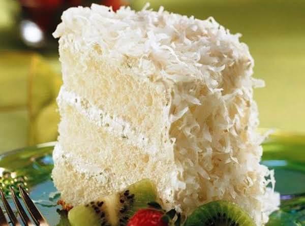 Key Lime Coconut Angel Cake