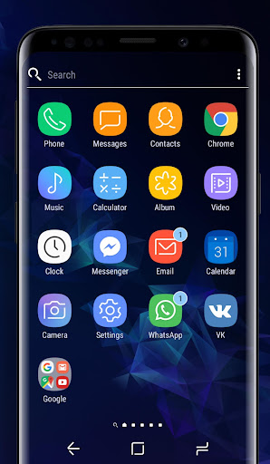 Download Galaxy S9 blue | Xperiau2122 Theme MOD APK 2