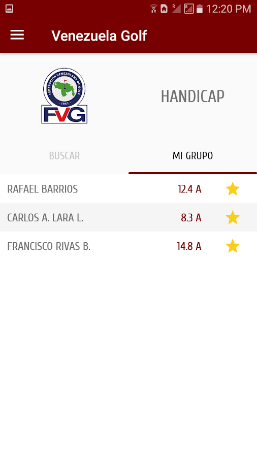 Venezuela Golf Federation- screenshot