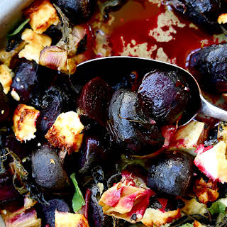 Maple-roasted Baby Beetroots With Feta, Oregano And Artichokes.