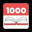 Reading a thousand books icon