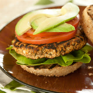 Red Pepper and Basil White Bean Burgers.