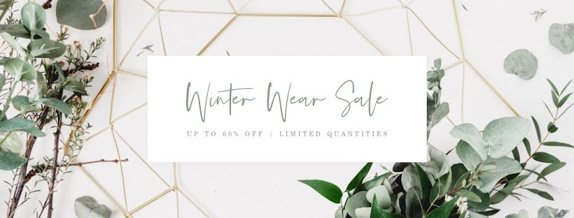 Winter Wear Sale - Facebook Page Cover Template