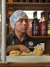 Photo: Preparando los sandwich Bar Restaurante Cordano Centro de Lima Mayo - 2014