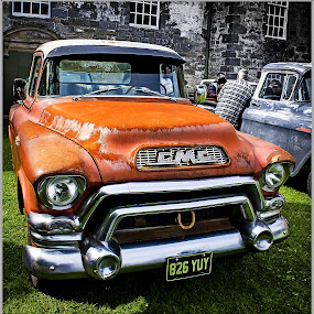 hood rust away by Sandy Crowe - Transportation Automobiles ( car, old, relic, rust,  )