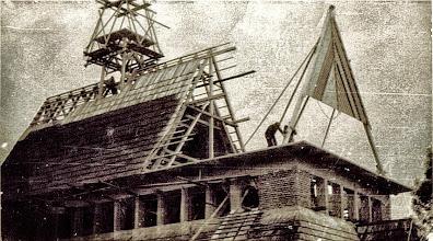 Photo: Budowa kościoła w Rogoźniku