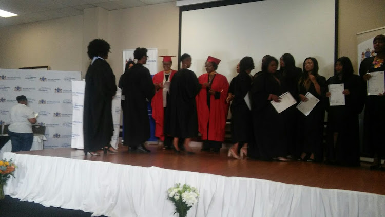 Graduates receive their certificates at a ceremony held at the Apollo Hotel in Randburg. They are beneficiaries of the Welfare To Work programme which takes youth receiving social state assistance train them for self employment and job opportunities.