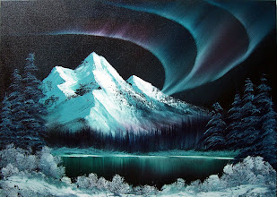 """Photo: 0813 Northern Lights. Oil on canvas. Frame: no. Price: 18"""" x 24"""" $229.00"""