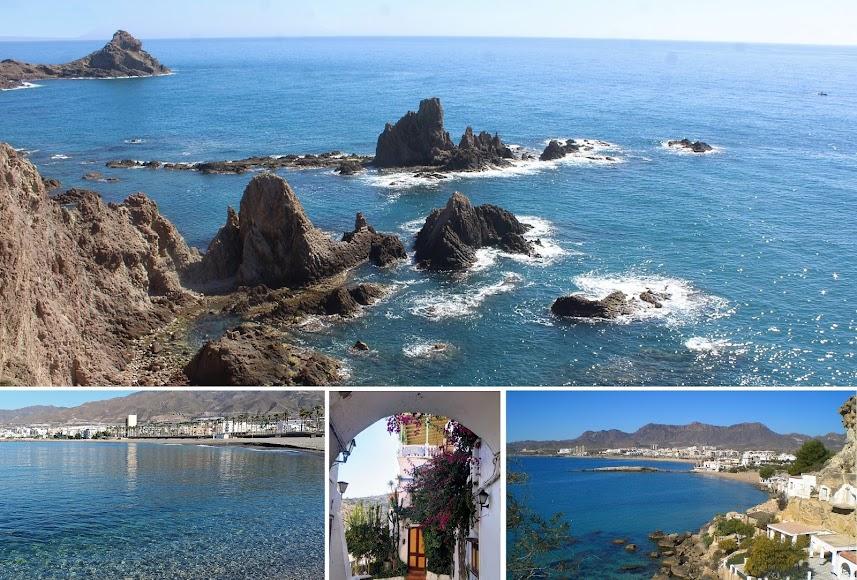 La Costa de Almería, desde Adra a Pulpí y con el Arrecife de las Sirenas, en el Cabo de Gata.
