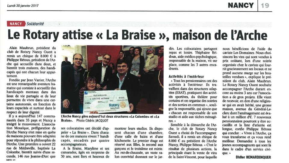 article le rotary la braise arche