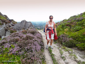 Photo: My wife walking past the heather