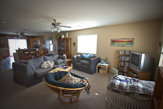 Photo: View of the family room from front entry way