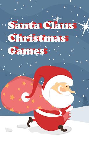 クリスマスギフトのためのサンタジャンプ