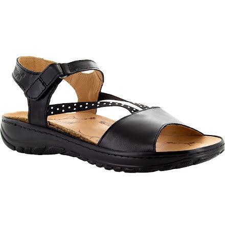 Estelle svart sandal med dekorresår och kb