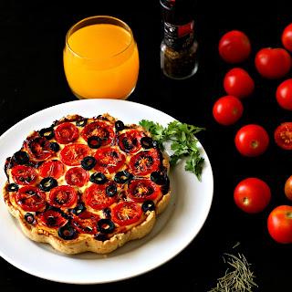 Easy Tomato Ricotta Tart