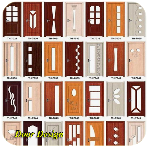 minimalist wooden door