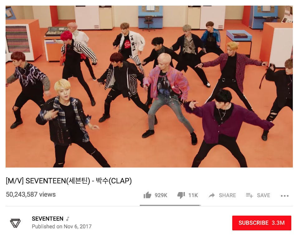 seventeen pledis youtube 2