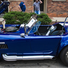 Blue car by Rusty Goris - Transportation Automobiles ( hot rod, american muscle, cobra, blue, car show )