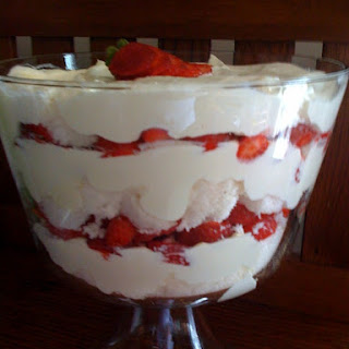 Strawberry Punch Bowl Cake.