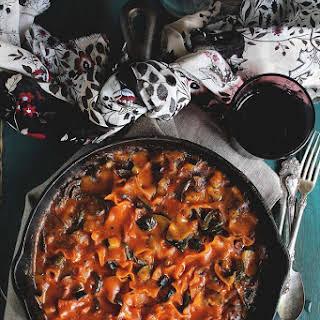 Skillet Vegetable Lasagna.