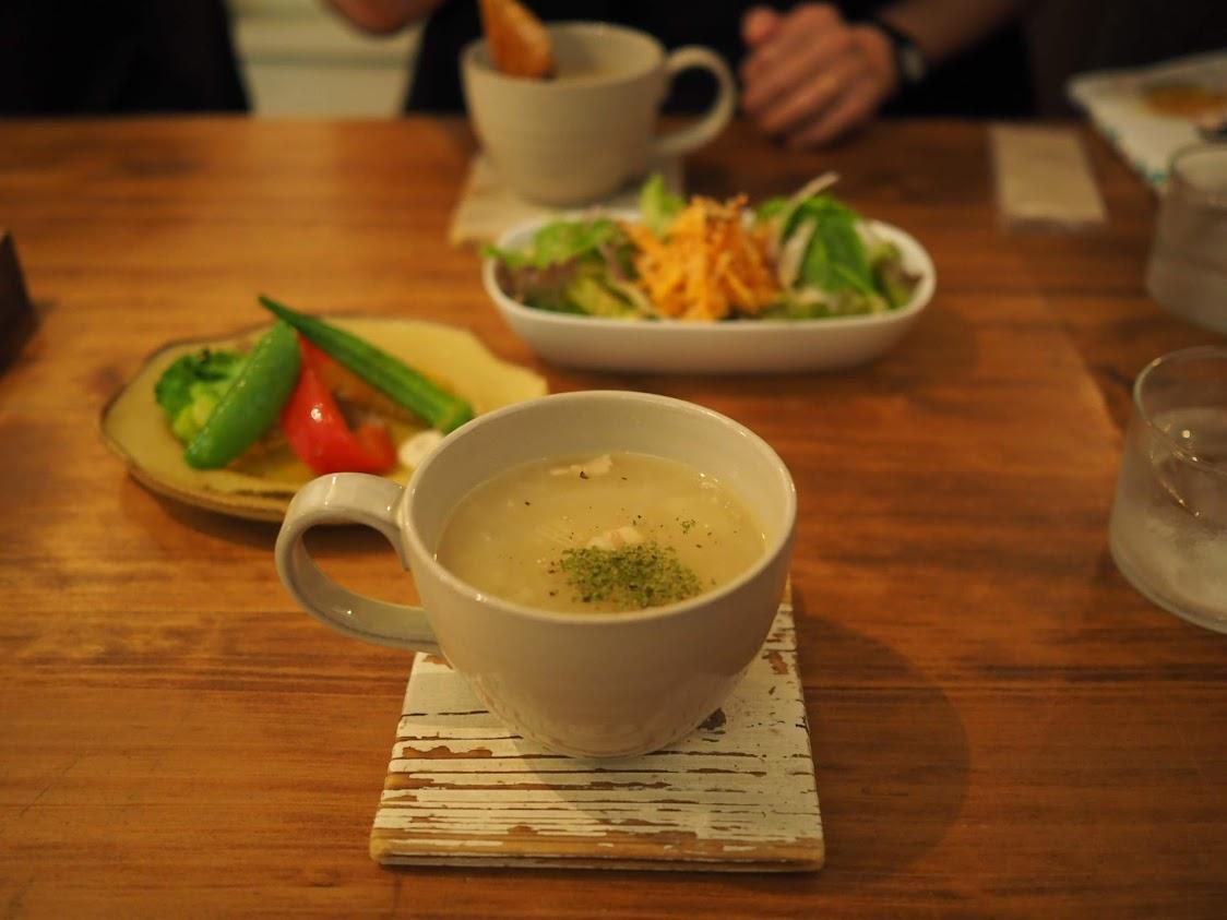 ランチのじゃがいもスープ