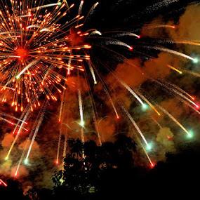 Fireworks by Jaguar Ricko - City,  Street & Park  Night ( photo )