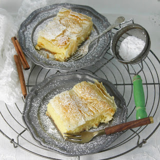 Sweet Custard Filo Pie (Bougatsa)