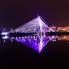 Bridge by Jali Razali - Landscapes Travel ( lights, night )