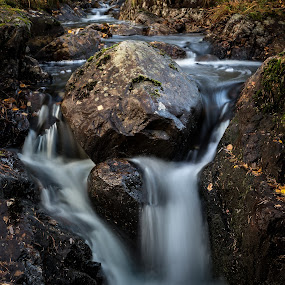 Small stream by Per-Ola Kämpe - Nature Up Close Water ( water, sweden, stream, nature, autumn, fall, creek, rocks )