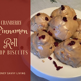 Cranberry Cinnamon Roll Drop Biscuits.