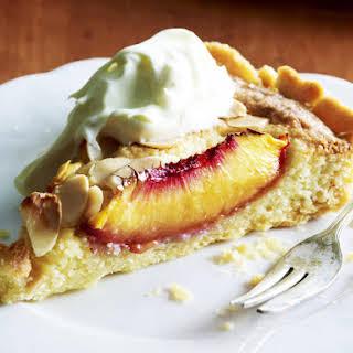 Nectarine and Almond Tart.
