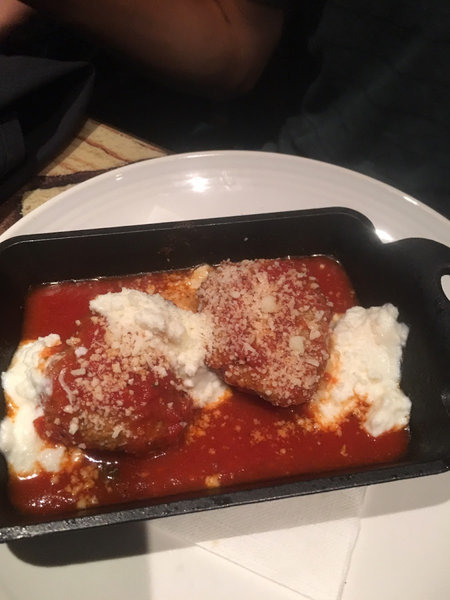 Meatball appetizer (not GF) but son said it was awesome