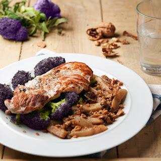 Pork Loin With Pear, Walnuts & Tenderstem Broccoli
