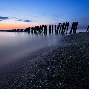 Baltic Sea in Twilight by Artem Sapegin - Landscapes Waterscapes