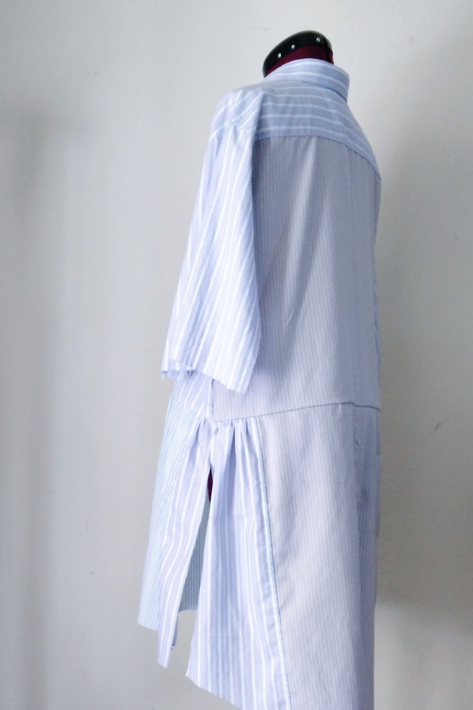 In-Progress: Shirt Dress with Bow Detail - DIY Fashion project | fafafoom.com