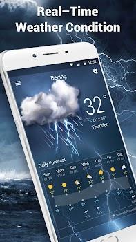 Clock andWeather widget daily forecast free