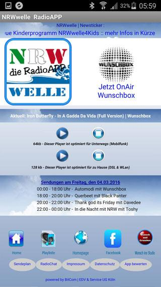 NRWwelle  RadioAPP- screenshot