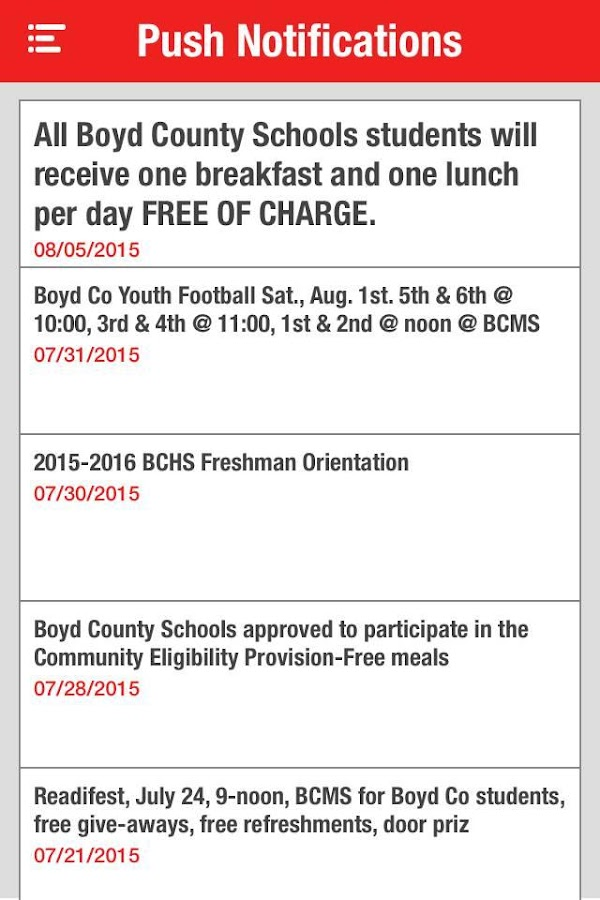 Boyd County Schools- screenshot