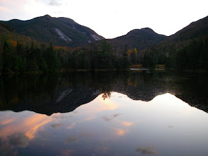 Photo: The view from Marcy Dam at dusk.