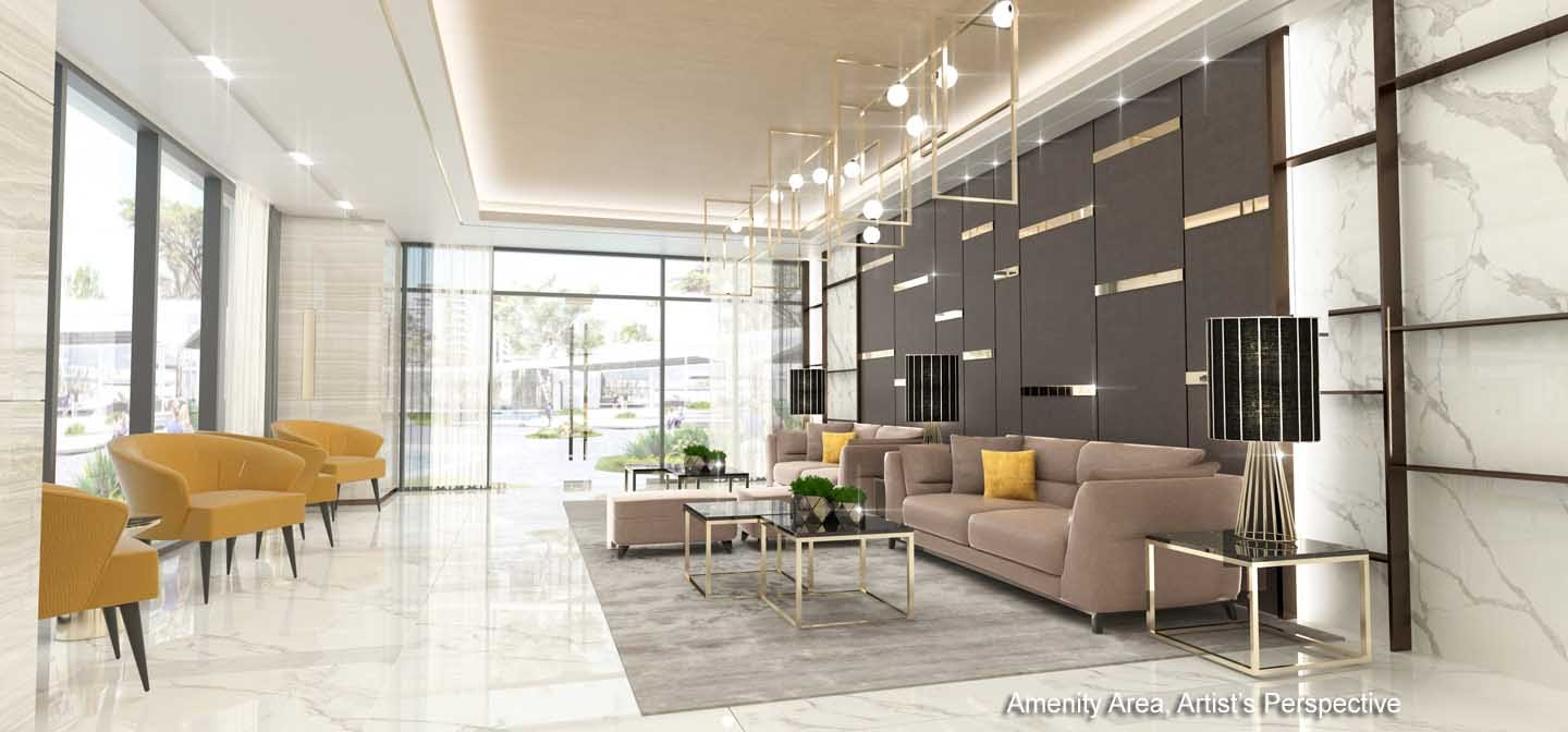 Gold Residences, Paranaque lobby