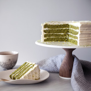 White Chocolate Matcha Cake
