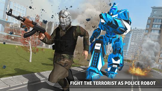 US Police Robot Car Game – Police Plane Transport 4