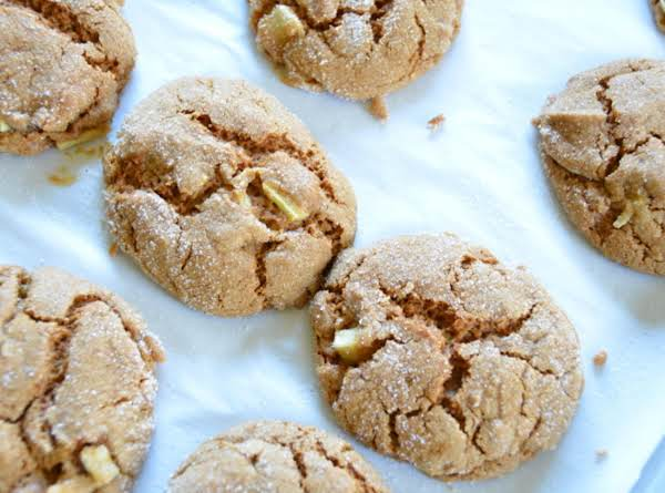 Soft Apple Ginger Spice Cookies