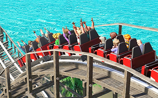 VR Water Roller Coaster Theme Park Ride  screenshots 1