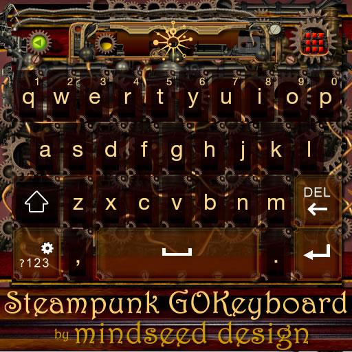 Steampunk GO Keyboard Theme