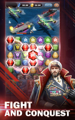 Battleship & Puzzles: Warship Empire Match  captures d'écran 1