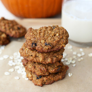 Chewy Pumpkin Oatmeal Raisin Cookies (Gluten-Free).