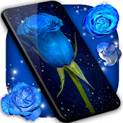 Blue Rose Live Wallpaper 3d Wallpaper Themes Android